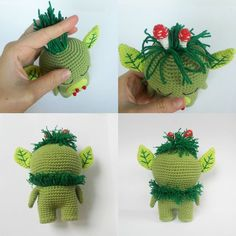 Forest spirit amigurumi pattern - hair