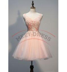 Charming Homecoming Dresses,Organza Homecoming Dress,Short Homecoming Dress,Appliques Homecoming Dress,V-Neck Homecoming Dress