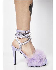 Life Of Luxury Marabou Heels