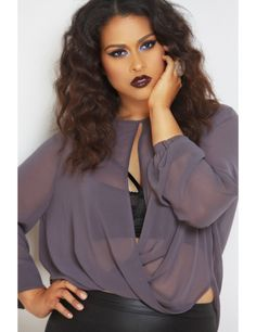 """love the top, the lips, """"if you follow my curvy girl's fall/winter closet, make sure to follow my curvy girl's spring/summer closet.""""   http://pinterest.com/blessedmommyd/curvy-girls-springsummer-closet/pins/"""