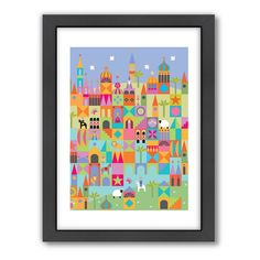 Americanflat Visual Philosophy Toytown Framed Wall Art, Multicolor
