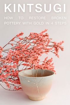 The 4 steps of the traditional antique Kintsugi technique explained by RealKintsugi. Learn how to restore broken pottery with gold. Kintsugi, the beauty of imperfection. Kintsugi, Japanese Pottery, Restore, Restoration, Im Not Perfect, Ceramics, Traditional, Antiques, Gold