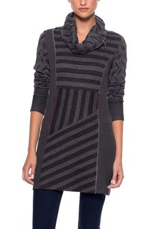 On ideel: DZHAVAEL COUTURE Knit Asymmetrical Tunic