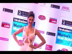 Deepika Padukone at the red carpet of Mumbai's Most Stylish Awards 2015.