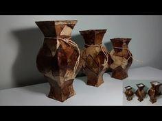 Como fazer vaso com papelão e filtros de café! - YouTube