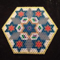 Mandala perler beads by Katie Binesh