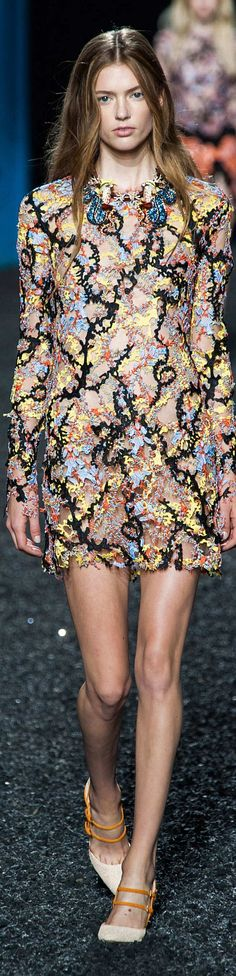 Color fashion Glam / Mary Katrantzou Collection Spring 2015