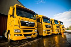 A selection of the new MAN trucks