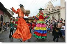 nicaragua culture - Gigantona and the Enano
