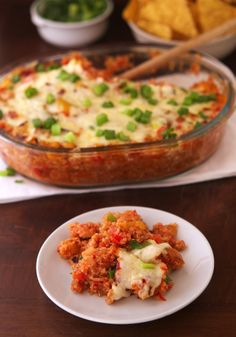 Spicy Mexican Quinoa Casserole — Your classic Mexican casserole with quinoa instead of meat. Goes great with sour cream! (Click on image for recipe) via @Mike Tucker @TheIronYou