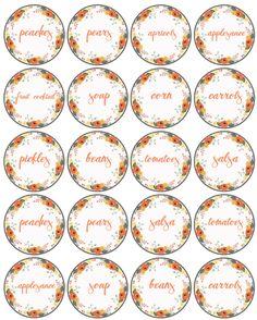 Pantry Labels on the Mason Jar Label design contest page Printable Labels, Printable Planner, Printable Templates, Free Printable, Kitchen Labels, Pantry Labels, Canning Labels, Jar Labels, Decoupage Printables