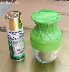 DIY Wohndeko-Ideen mit Spraydosen, Vasen besprühen, Dekoration selber machen