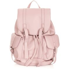 TOPSHOP Clean Pocket Backpack (€11) ❤ liked on Polyvore featuring bags, backpacks, bolsas, pink, purses, backpack bags, topshop backpack, pink bag, topshop bags and knapsack bag