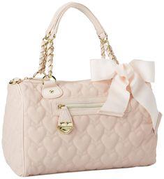 Betsey Johnson Handbags | Johnson Mine Yours Blush Pink Quilted Hearts Love Satchel Handbag Bag ...