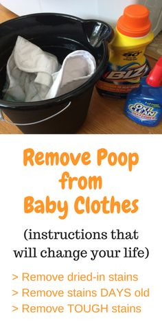 How To Easily Remove Poopout Stains Babies Stuffing And Parents