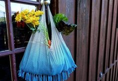 Upcycle a T-Shirt into a No-Sew Fringed Market Tote Tutorial