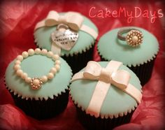 Tiffany & Co. cupcakes by cakemydays (lucie), via Flickr
