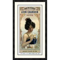 Global Gallery 'Léon Chandon' Framed Vintage Advertisement Size: