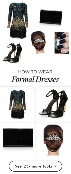 """formal party"" by evansmith-es on Polyvore featuring moda, Alessandra Rich e 16 Braunton"