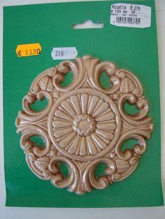 Holzverzierung Rosette Holzteil Verzierung Massiv Holz Ornament Holzornament OVP