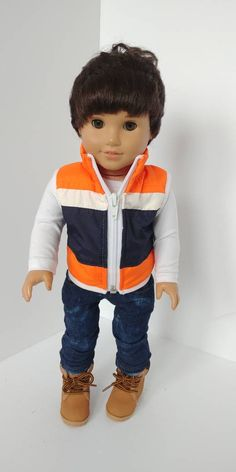 inch doll Excited to share the latest addition to my shop: 18 inch boy doll clothes. Fits like American girl doll clothes. Boy Doll Clothes, Doll Clothes Patterns, Girl Dolls, Barbie Dolls, Ag Dolls, American Boy Doll, 18 Inch Boy Doll, Watermelon Dress, Barbie Doll Accessories