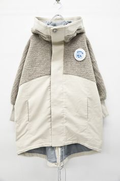 """theleftist: """" .bedsidedrama 'big hood combi' """" Revival Clothing, Couture Looks, Winter Jackets Women, Apparel Design, Jackets Online, Jacket Style, Denim Fashion, Korean Fashion, Cool Outfits"""