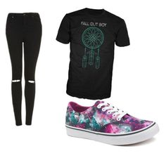 """""""Untitled #98"""" by tia12502 on Polyvore featuring Topshop and Vans"""