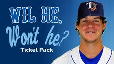 """The Durham Bulls unveiled a new ticket package in response to the blockbuster trade which sent Minor League Player of the Year Wil Myers to the Tampa Bay Rays for James Shields and Wade Davis. The """"Wil He, Won't He?"""" Pack consists of 3 Bulls games, including Opening Day and July 4th, and an added incentive for fans should Myers skip Durham and join the Rays - an extra game for free! This plan makes a great holiday gift - 3 great games (plus another possible game) for just $24!"""