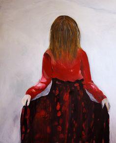 "Saatchi Online Artist: Hanna Ilczyszyn; Oil, Painting ""Girl II"""