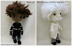 Amigurumi To Go: Amigurumi Wybie Doll Pattern With Video Tutorial & Einstein ( same pattern just use different color yarn, do the hair differently and make the Einstein clothes)