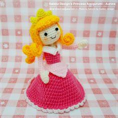 Amigurumi Princess Aurora from Sleeping Beauty Pattern and Photo by Rabbiz Design Amigurumi