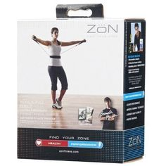 NIB ZON Fitness Exercise Walking Belt with 2 Removable Medium Resistance Tubes #Zon
