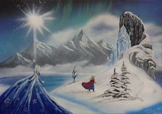 Frozen. Spray art by Ivan Perončík