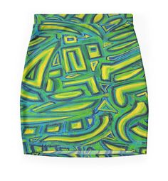 Side Blue tonic mini skirts . Mini falda.. Fashion design by Ludovico Misino - Ludodesign
