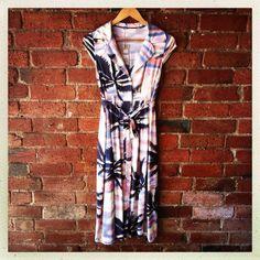 pastels and palms midi dress