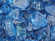 glass pieces in gabion walls
