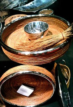 Woven Pine Needle Bowls. Model Metalworks by pinkie611, via Flickr
