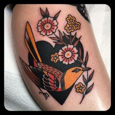 Autumnal Inspired American Traditional Work by Leonie New - Tattoos Bild Tattoos, Neue Tattoos, Body Art Tattoos, Cool Tattoos, Styles Of Tattoos, Oldschool Tattoos, Tatuaje Old School, Tattoo Henna, Handpoke Tattoo