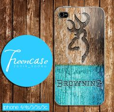 browning deer on wood mint case for iphone 4 by FreenCase on Etsy, $15.55 i have no phone tho lol but this looks nice