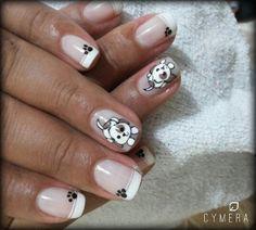 Perrito uñas Bella, Nails, Beauty, Dog Nails, Dog Design, Nail Designs, Nail Manicure, Fingernail Designs, Ongles