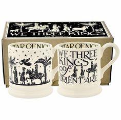 Boxed ½ Pt. Mugs Three Kings - Emma Bridgewater - Pine-apple - Importe