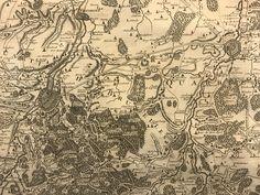 Kaart van Leuven, carte particulière des environs de Bruxelles, Louvain, ...., 1743