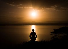 Sunset Yoga - Meditative sunset overlooking Lake Baring, Kenya.