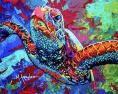 Sea Turtle Painting by Maria Arango