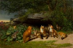 William Holbrook Beard - The Foxes Rendezvous, 1871