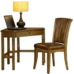Hillsdale Furniture 2-pc. Solano Desk and Chair Set, Medium Oak (€530) ❤ liked on Polyvore featuring home, furniture, desks, medium oak, oak wood furniture, colored furniture, oak desk chair, oakwood furniture and hillsdale furniture
