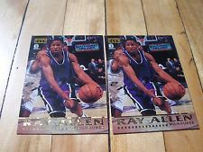 RAY ALLEN 1998-99 The Score Board Players Club 1997 2 Card Lot Milwaukee Bucks