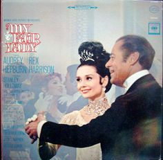 My Fair Lady starring Audrey Hepburn and Rex Harrison (1963). back cover of Original Soundtrack LP