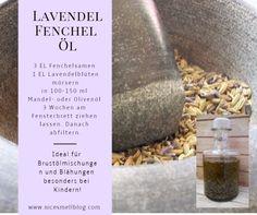 Lavendel-Fenchel-Öl. Ideal bei Husten für Brustölmischungen oder als Bäuchlein-Öl für Kinder. Oatmeal, Breakfast, Food, Lavender, Recipies, Kids, The Oatmeal, Morning Coffee, Rolled Oats