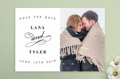 Fancy Flourish Save the Date Cards by Chryssi Tsoupanarias at minted.com